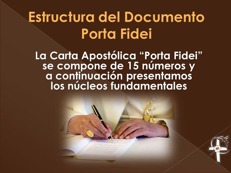 Estructura del Documento Porta Fidei
