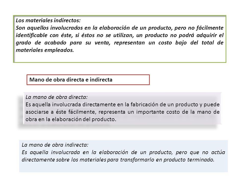 Los materiales indirectos: