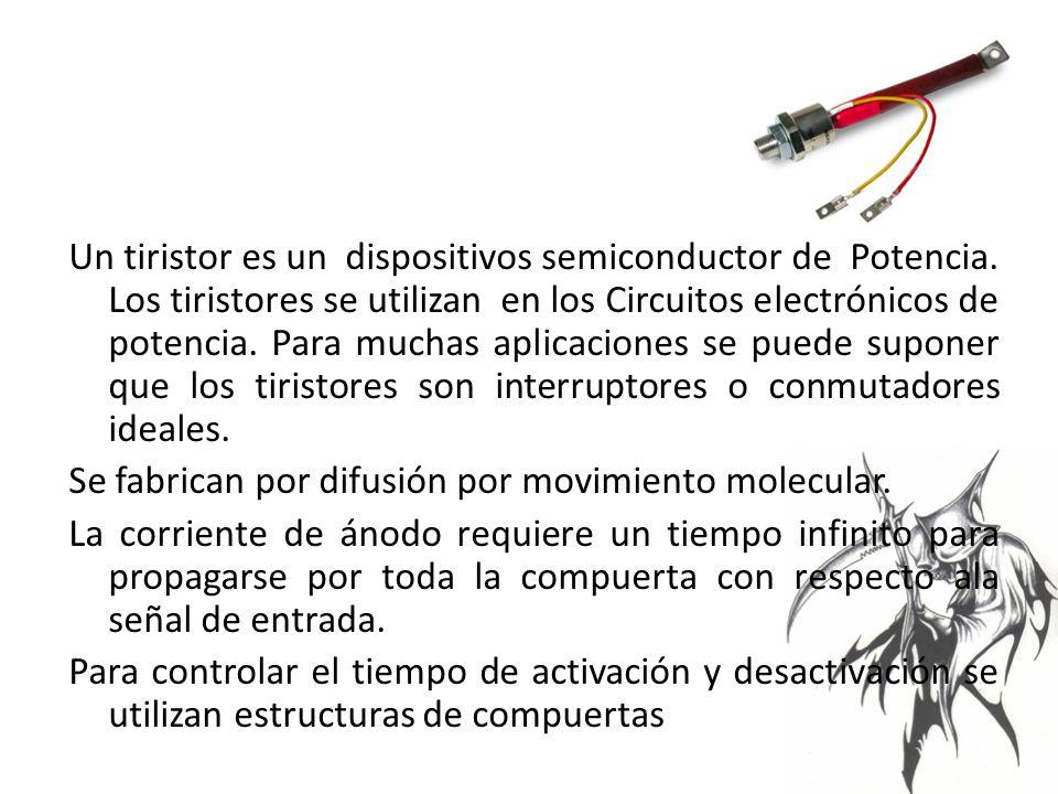 Un tiristor es un dispositivos semiconductor de Potencia