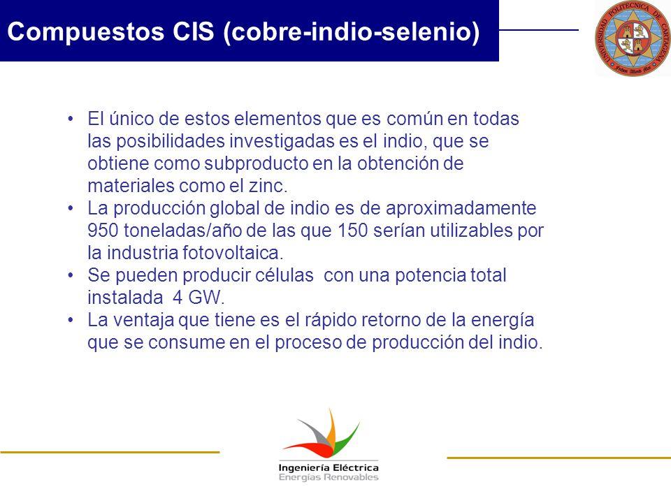 Compuestos CIS (cobre-indio-selenio)