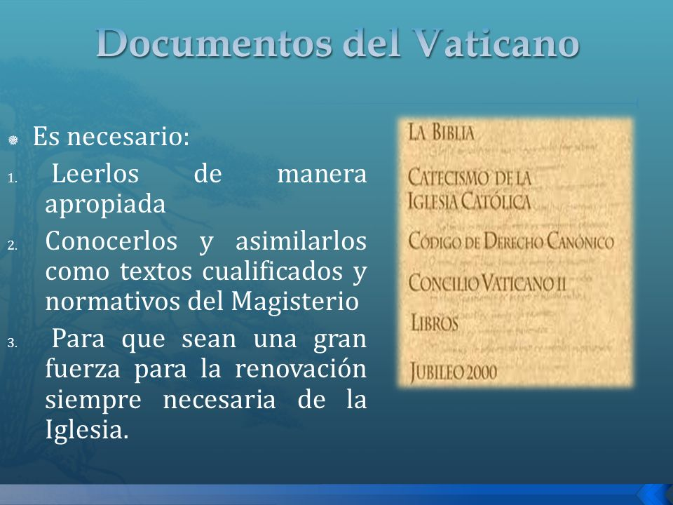 Documentos del Vaticano