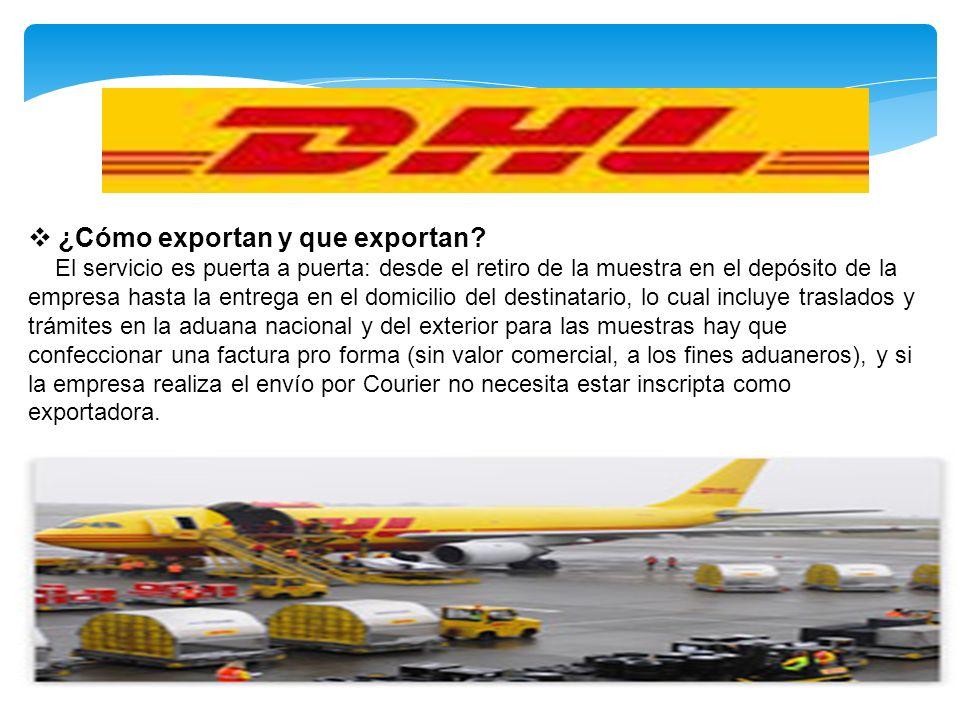 ¿Cómo exportan y que exportan