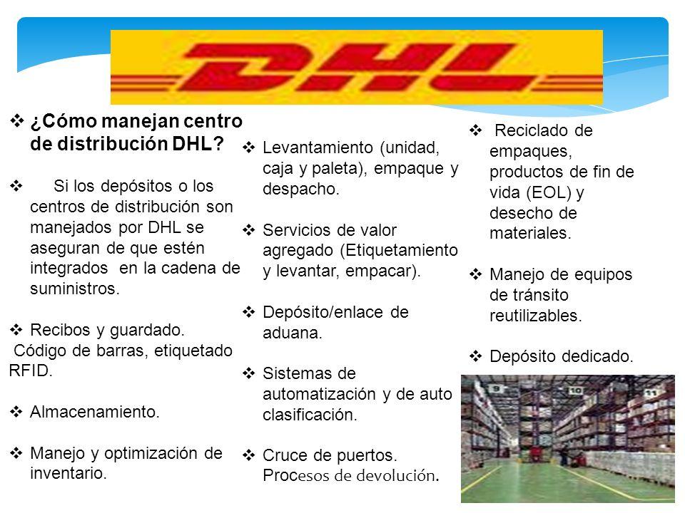 ¿Cómo manejan centro de distribución DHL