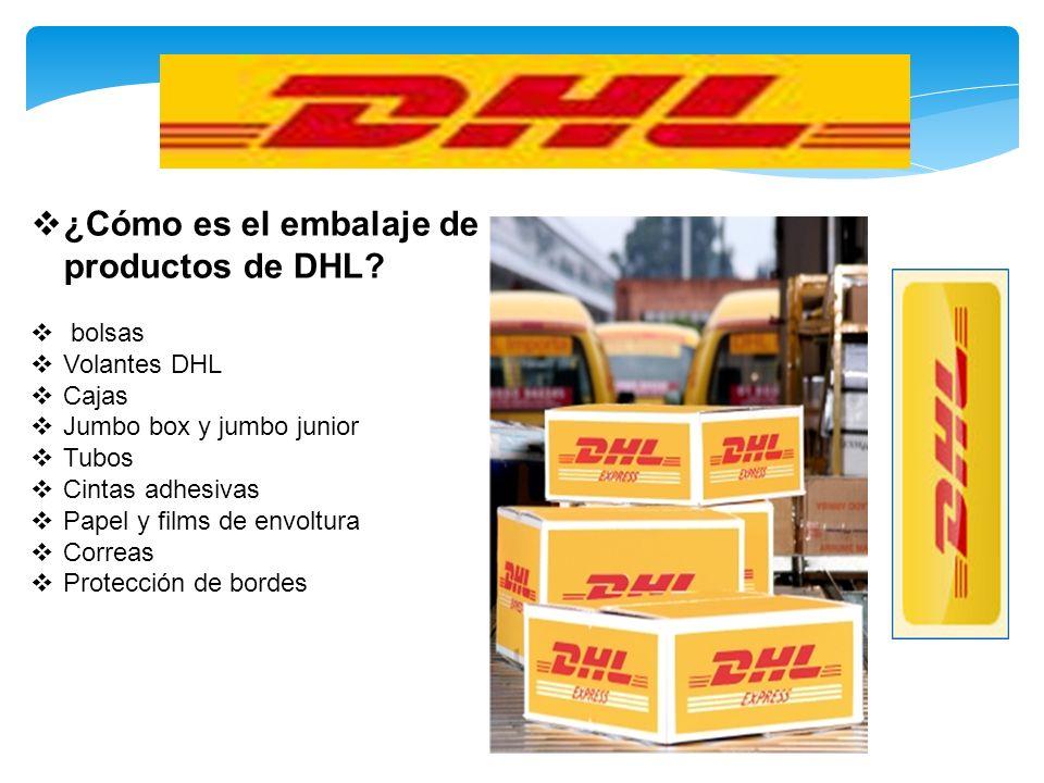 ¿Cómo es el embalaje de productos de DHL