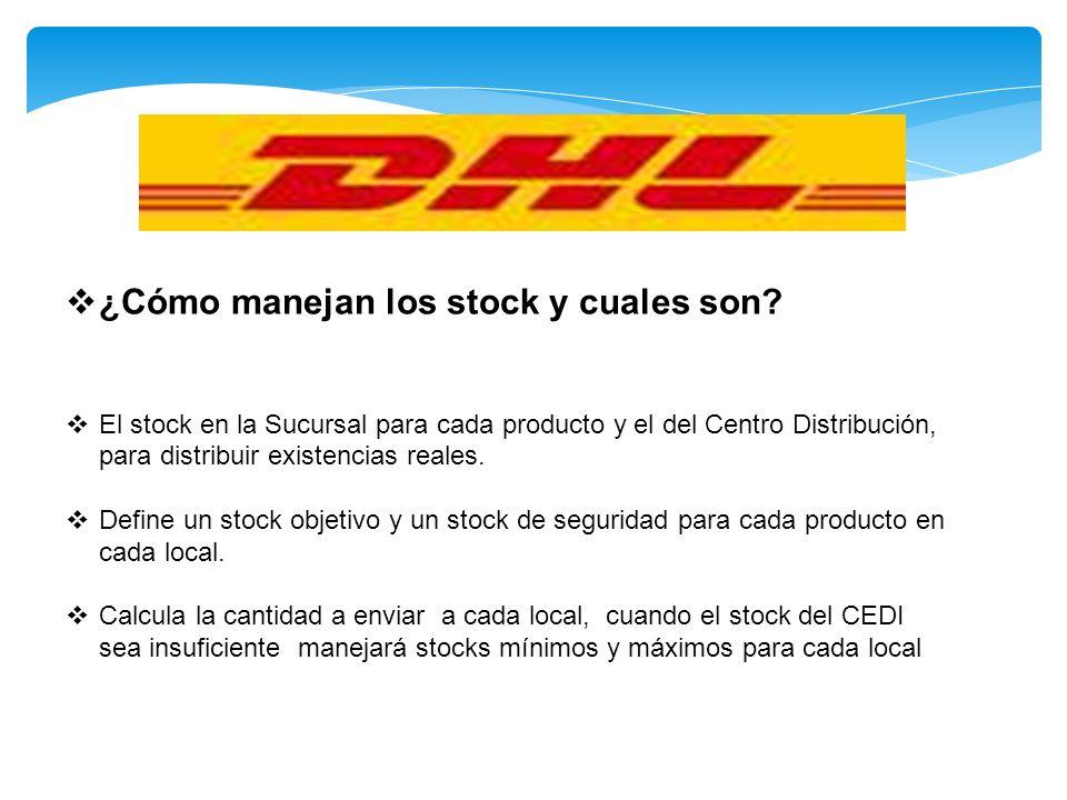 ¿Cómo manejan los stock y cuales son