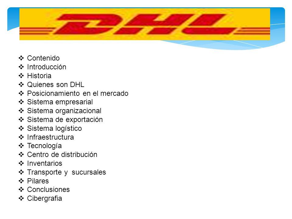 Contenido Introducción. Historia. Quienes son DHL. Posicionamiento en el mercado. Sistema empresarial.