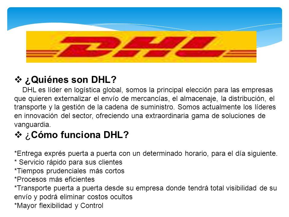 ¿Quiénes son DHL ¿Cómo funciona DHL