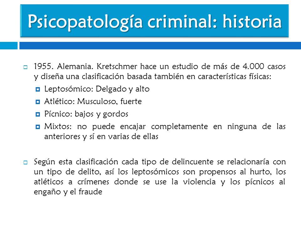 Psicopatología criminal: historia