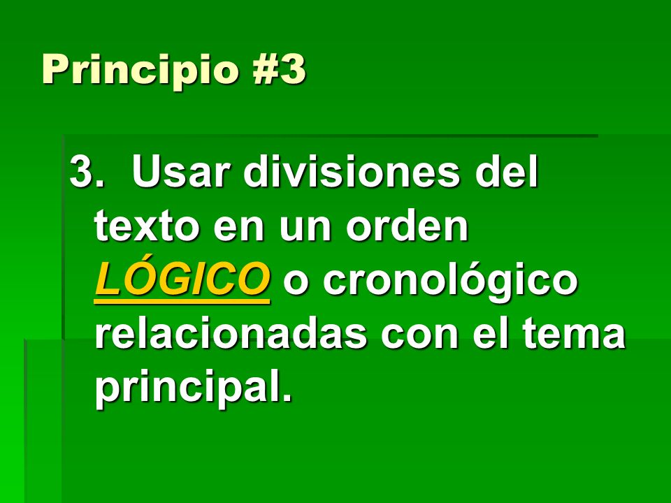 Principio #3 3.