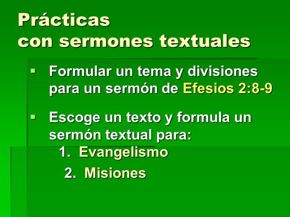 Prácticas con sermones textuales