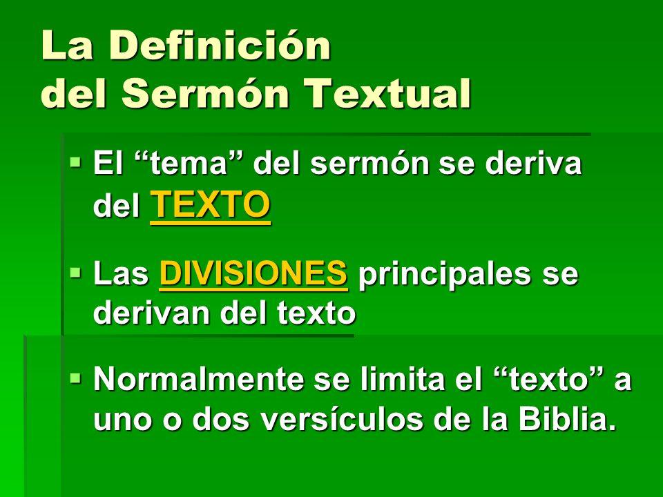 La Definición del Sermón Textual