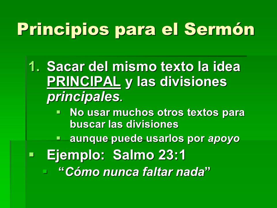 Principios para el Sermón