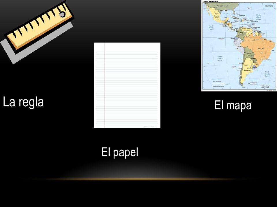 La regla El mapa El papel