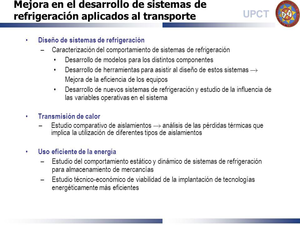 Mejora en el desarrollo de sistemas de refrigeración aplicados al transporte