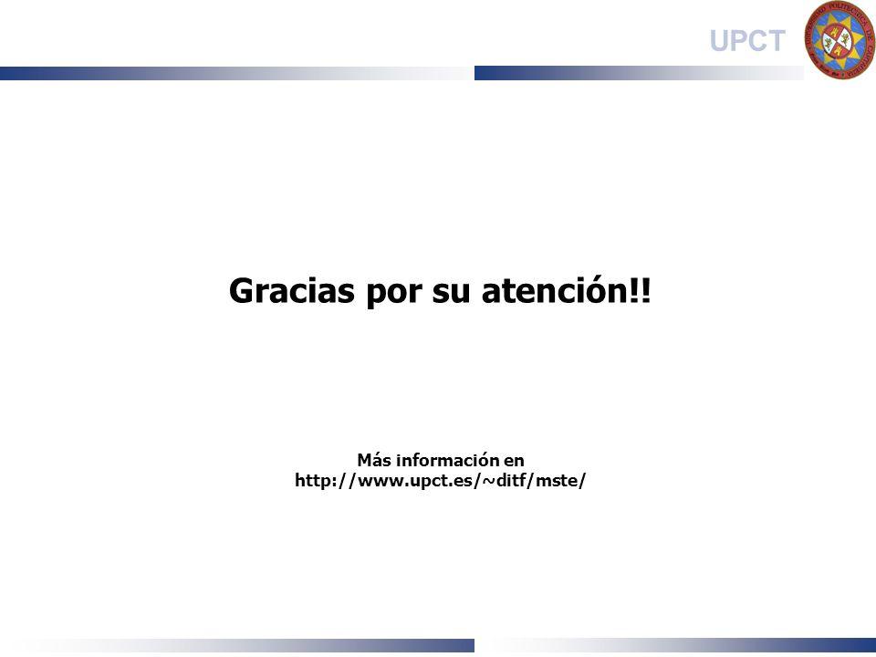 Gracias por su atención. Más información en http://www. upct