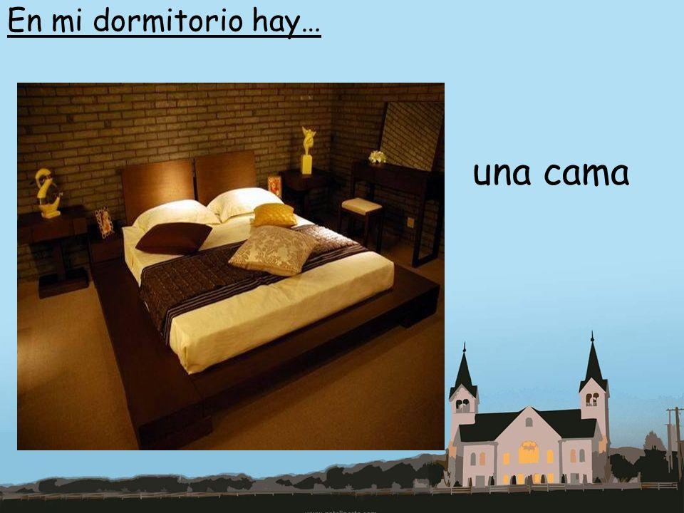 En mi dormitorio hay… una cama