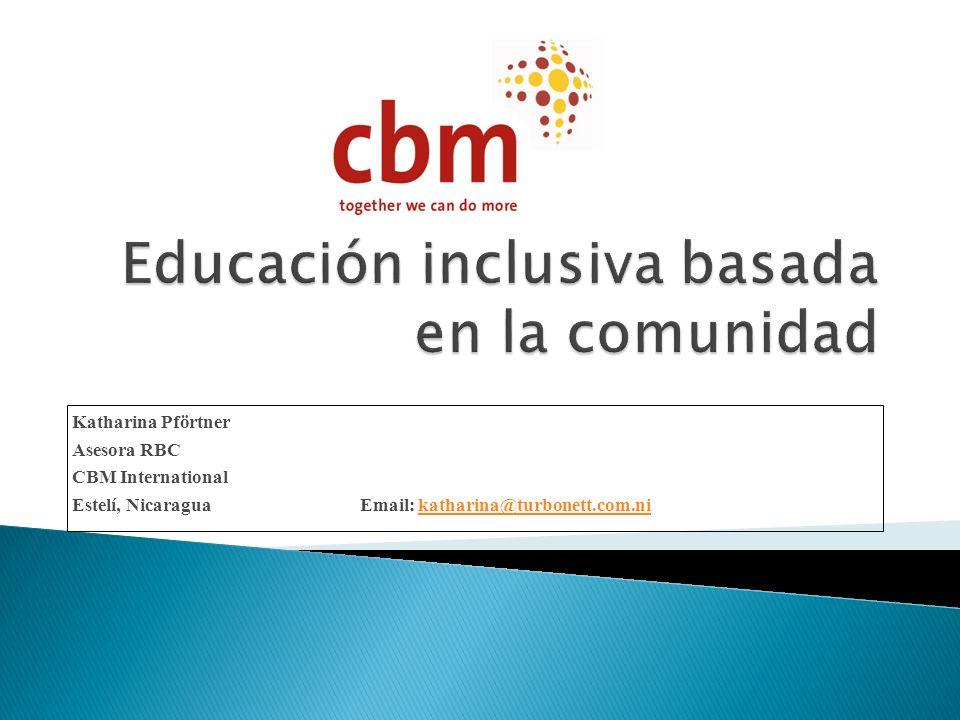 Educación inclusiva basada en la comunidad