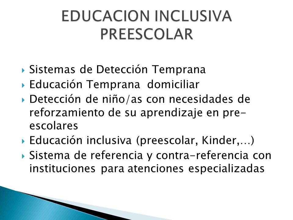 EDUCACION INCLUSIVA PREESCOLAR