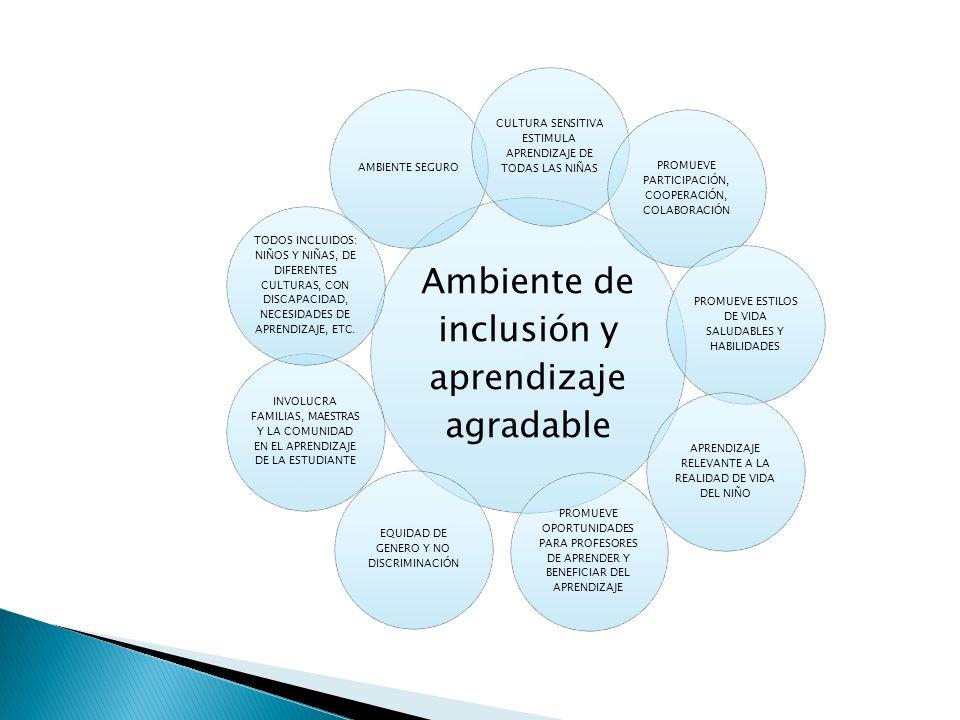 Ambiente de inclusión y aprendizaje agradable