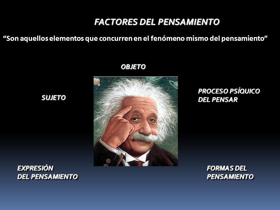 FACTORES DEL PENSAMIENTO