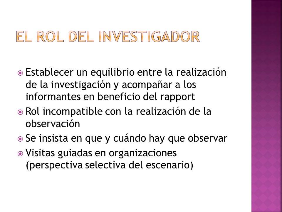 El rol del investigador