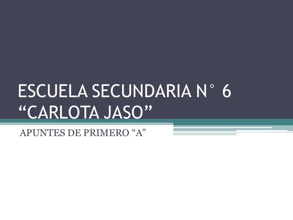 ESCUELA SECUNDARIA N° 6 CARLOTA JASO