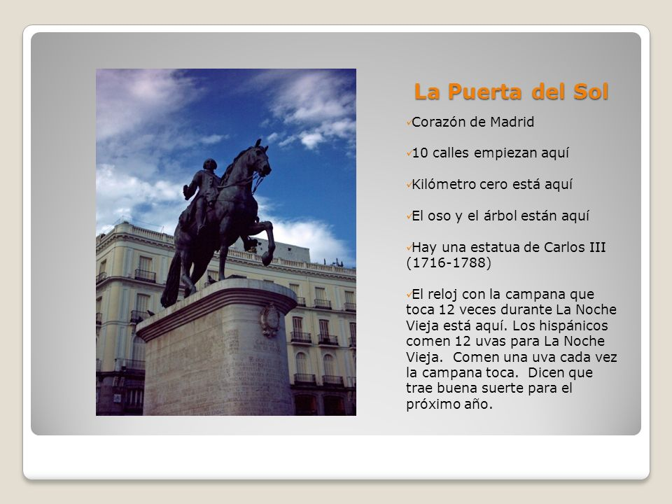 La Puerta del Sol Corazón de Madrid 10 calles empiezan aquí