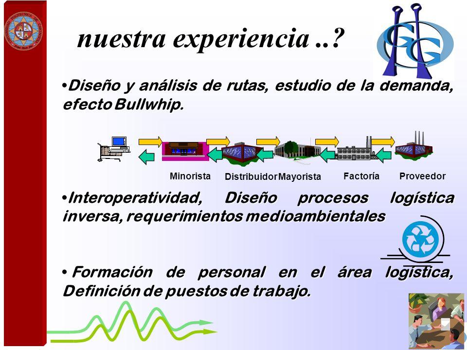 nuestra experiencia .. Diseño y análisis de rutas, estudio de la demanda, efecto Bullwhip.