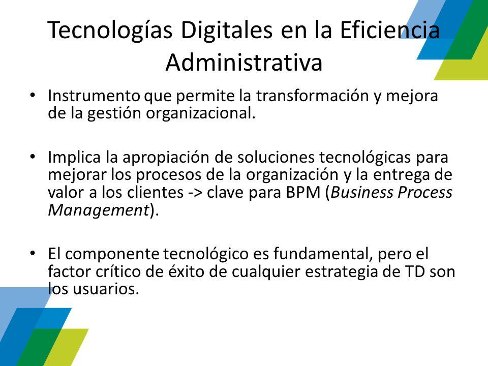 Tecnologías Digitales en la Eficiencia Administrativa