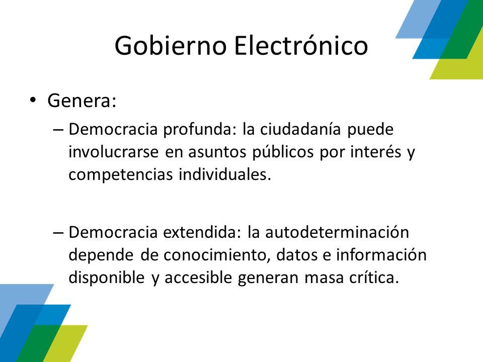 Gobierno Electrónico Genera: