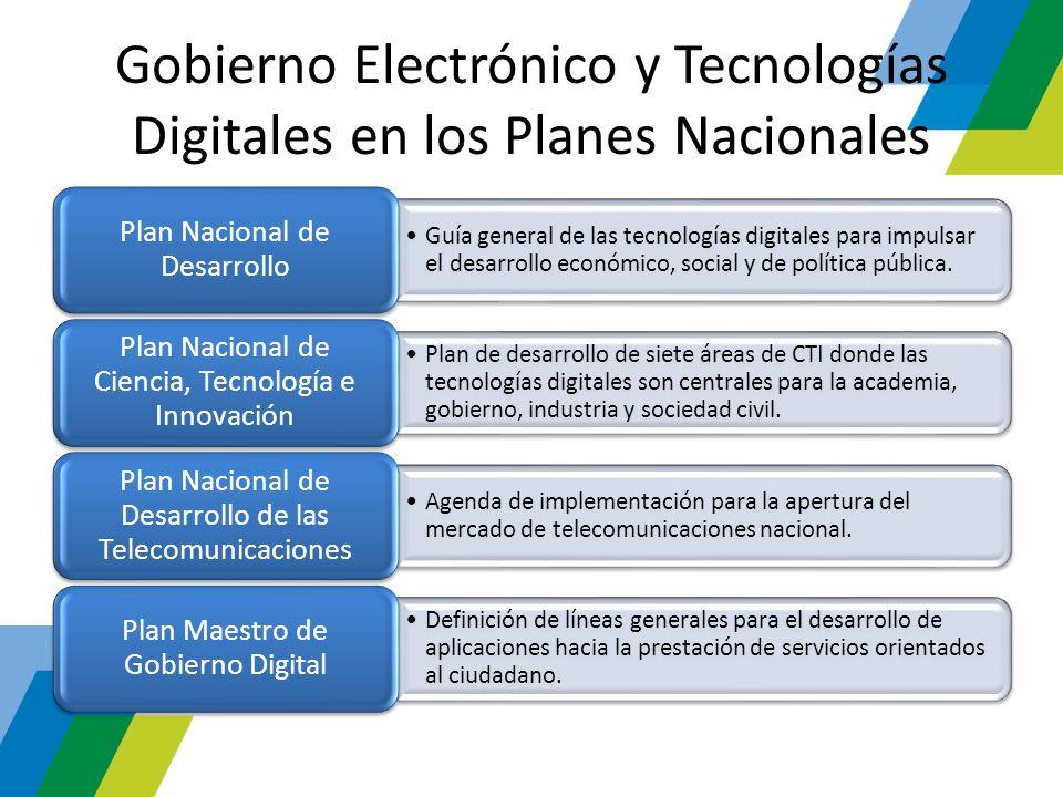 Gobierno Electrónico y Tecnologías Digitales en los Planes Nacionales