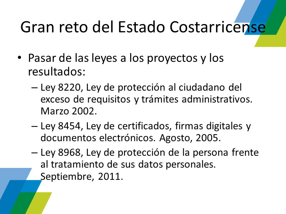Gran reto del Estado Costarricense
