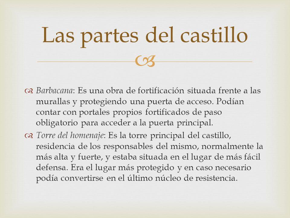 Las partes del castillo