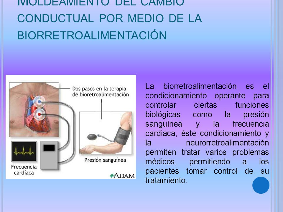 Moldeamiento del cambio conductual por medio de la biorretroalimentación