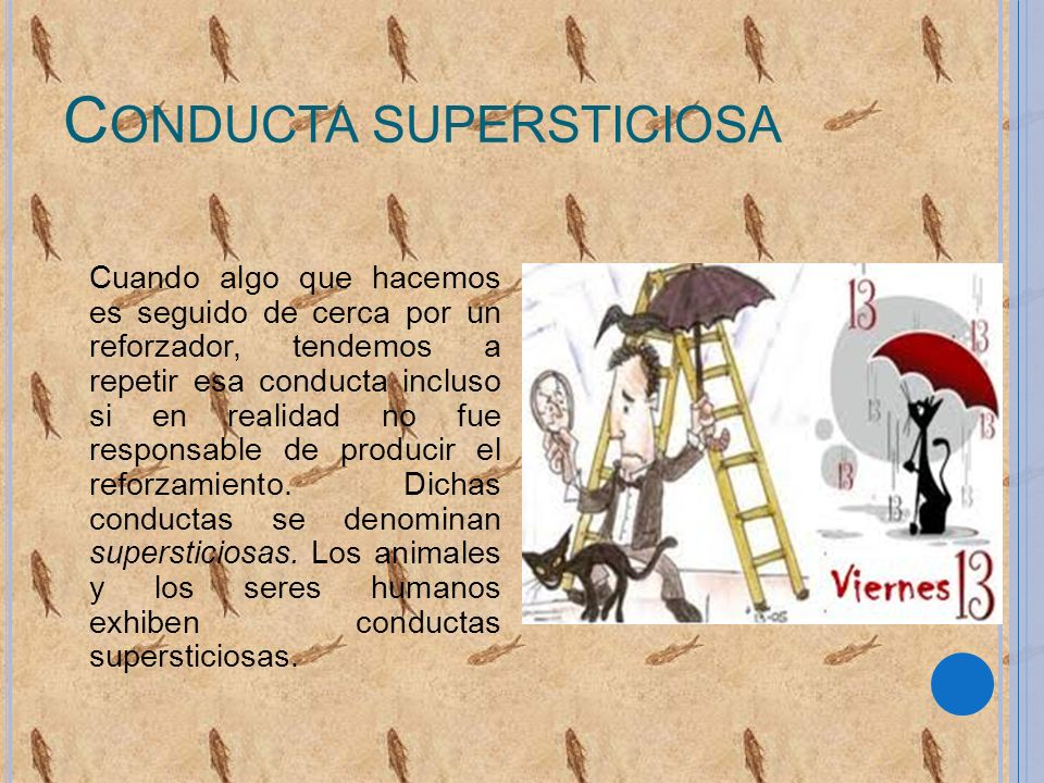 Conducta supersticiosa