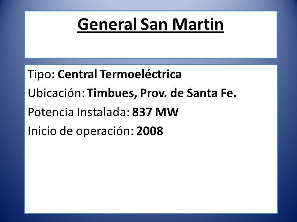 General San Martin Tipo: Central Termoeléctrica