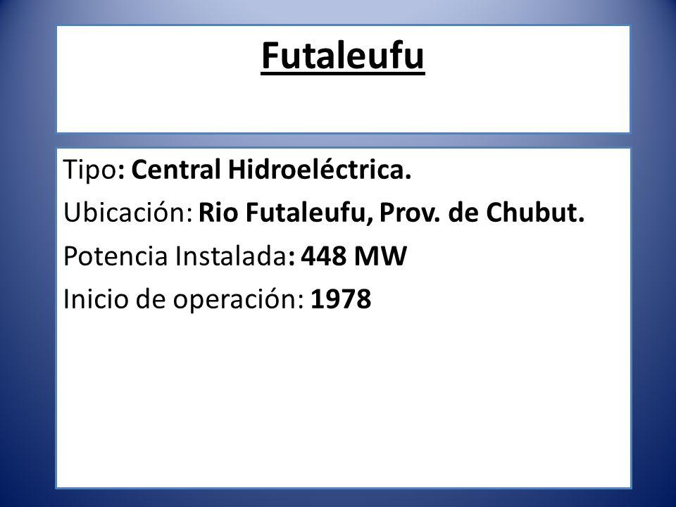 Futaleufu Tipo: Central Hidroeléctrica.