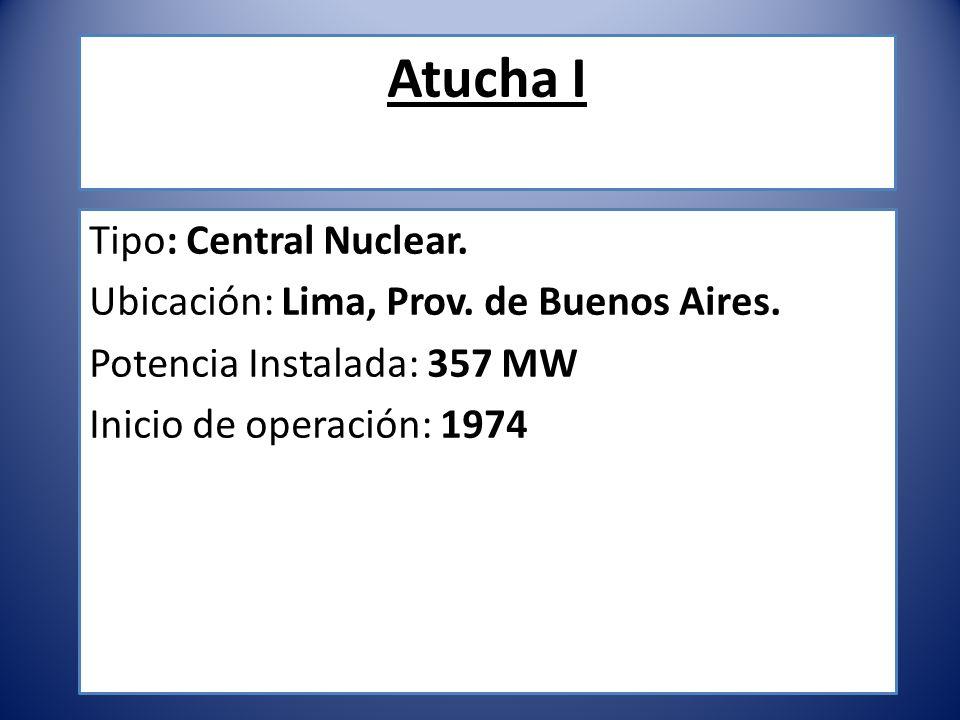 Atucha I Tipo: Central Nuclear.