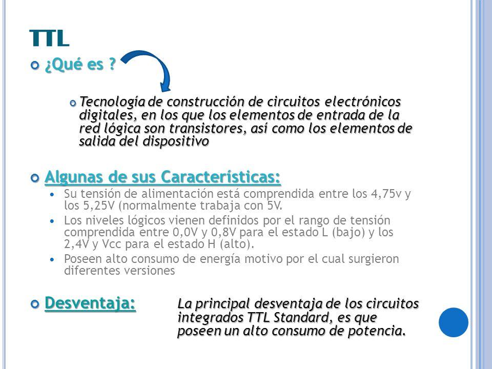 TTL ¿Qué es Algunas de sus Características: