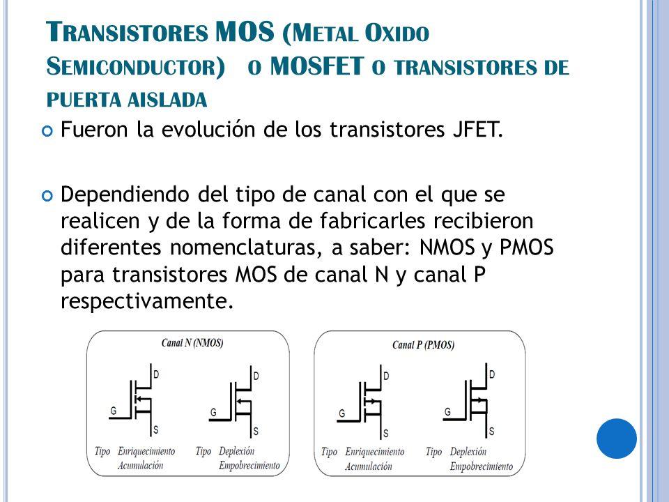 Fueron la evolución de los transistores JFET.