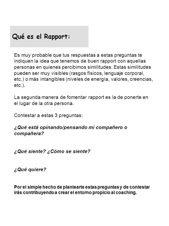 Qué es el Rapport: