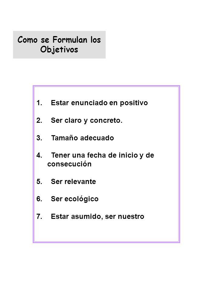 Como se Formulan los Objetivos