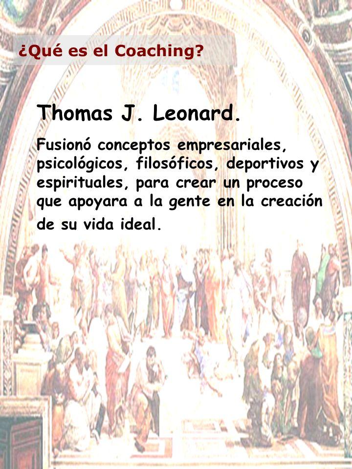 Thomas J. Leonard. ¿Qué es el Coaching