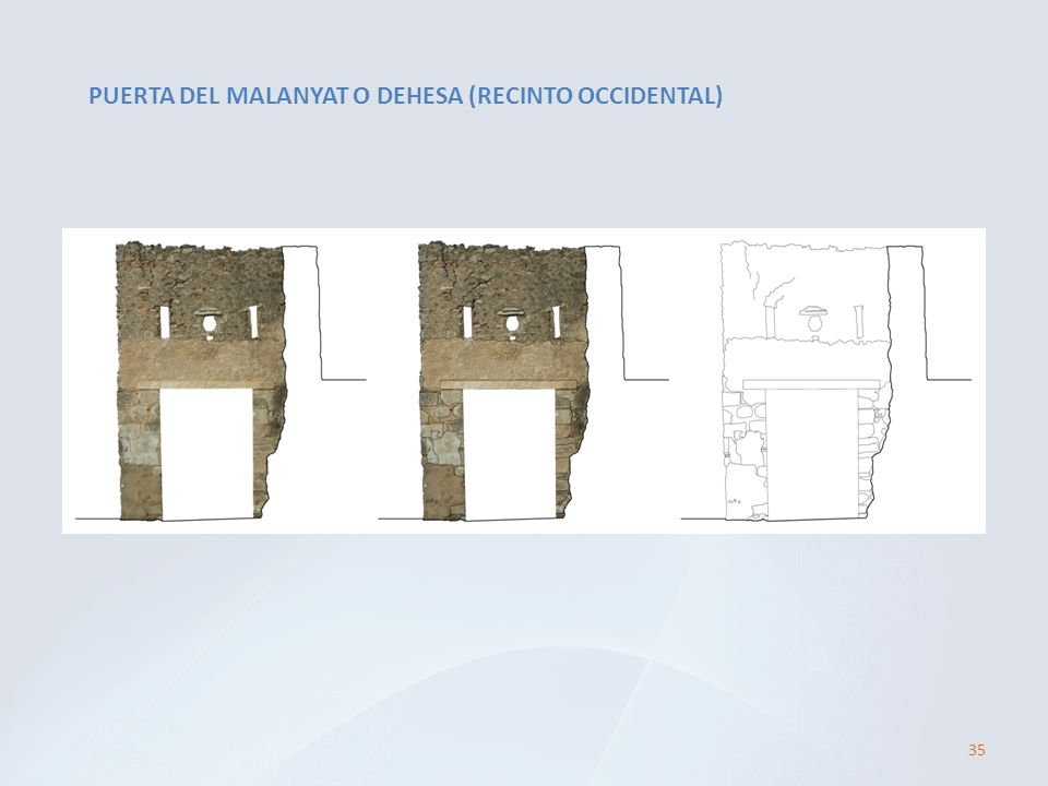 PUERTA DEL MALANYAT O DEHESA (RECINTO OCCIDENTAL)