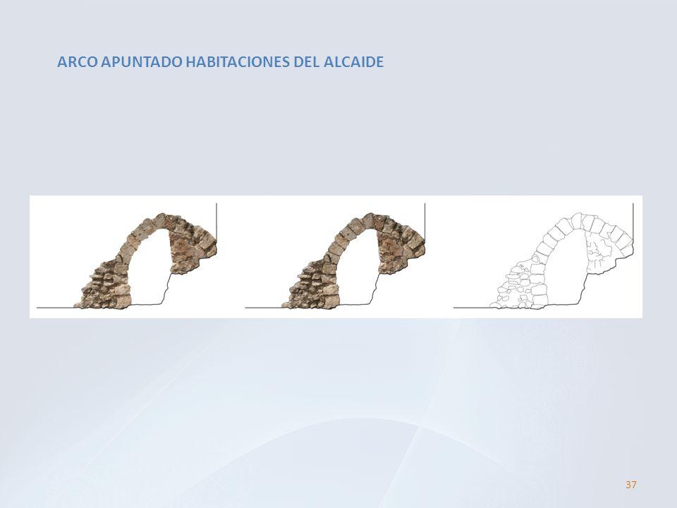 ARCO APUNTADO HABITACIONES DEL ALCAIDE