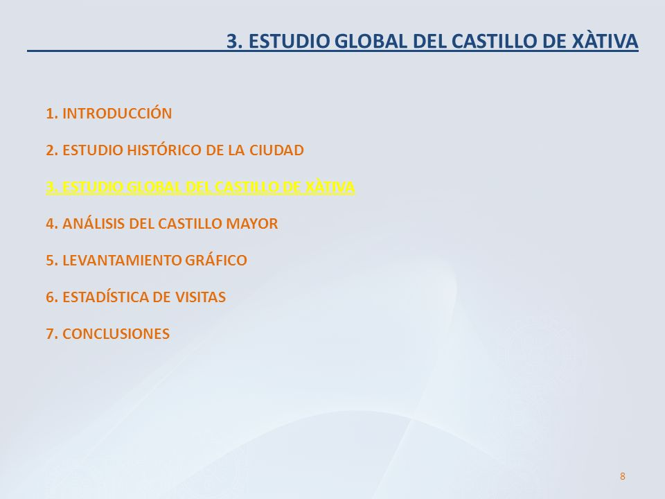 3. ESTUDIO GLOBAL DEL CASTILLO DE XÀTIVA