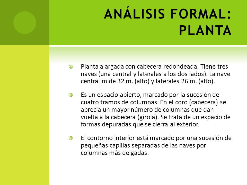 ANÁLISIS FORMAL: PLANTA