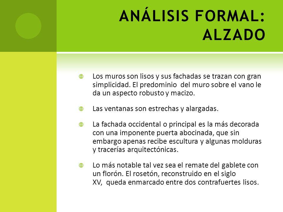ANÁLISIS FORMAL: ALZADO