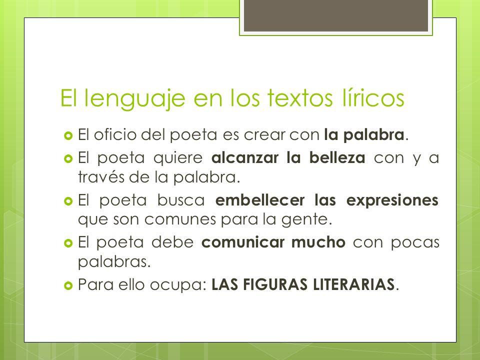 El lenguaje en los textos líricos