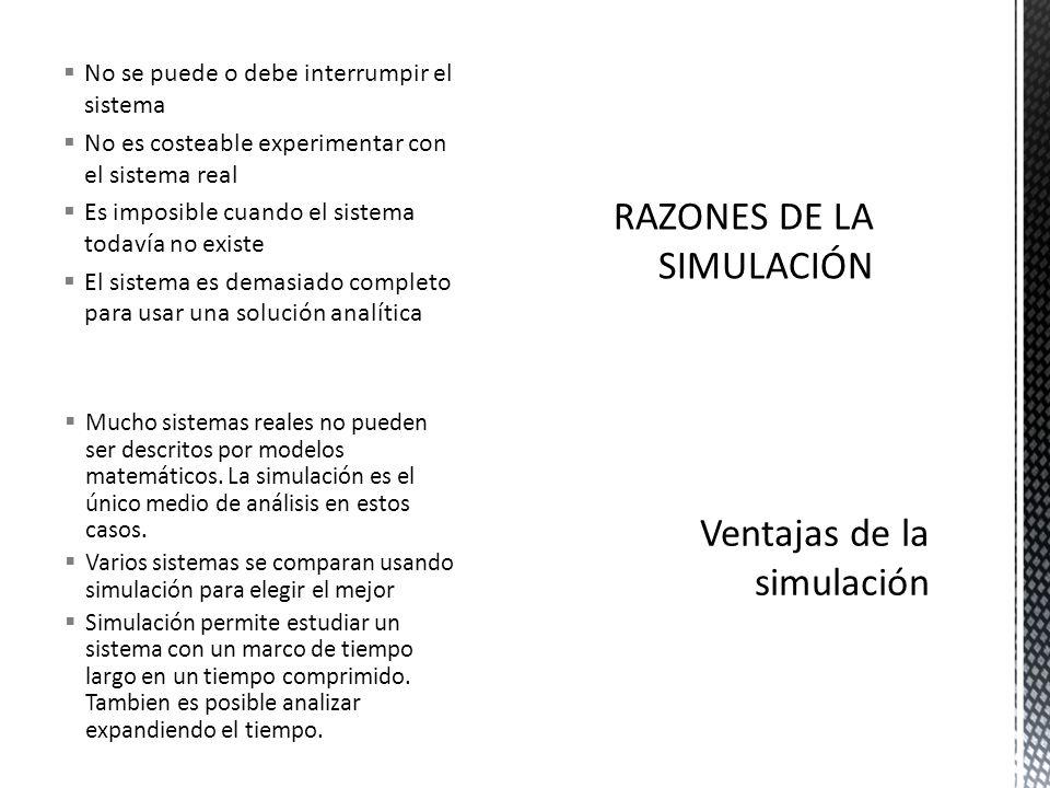 RAZONES DE LA SIMULACIÓN